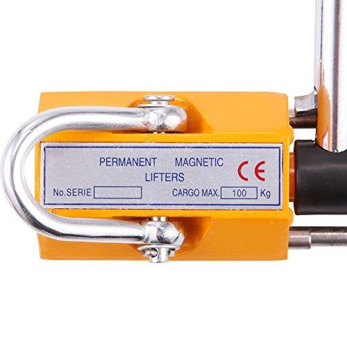 OrangeA 220LBS 100KG Steel Magnet Lifter Neodymium Magnetic Lifting Magnet Magnetic Shop Crane Metal Lifting Hoist (220LBS) by OrangeA (Image #6)