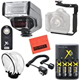 Digital Dedicated TTL 130C Flash PRO Kit for Canon Digital EOS Rebel SL1, T1i, T2i, T3, T3i, T4i, T5, T5i EOS 60D, EOS 70D, 50D, 40D, 30D, EOS 5D, EOS 5D Mark III, EOS 6D, EOS 7D, EOS 7D Mark II, EOS-M Digital SLR Cameras