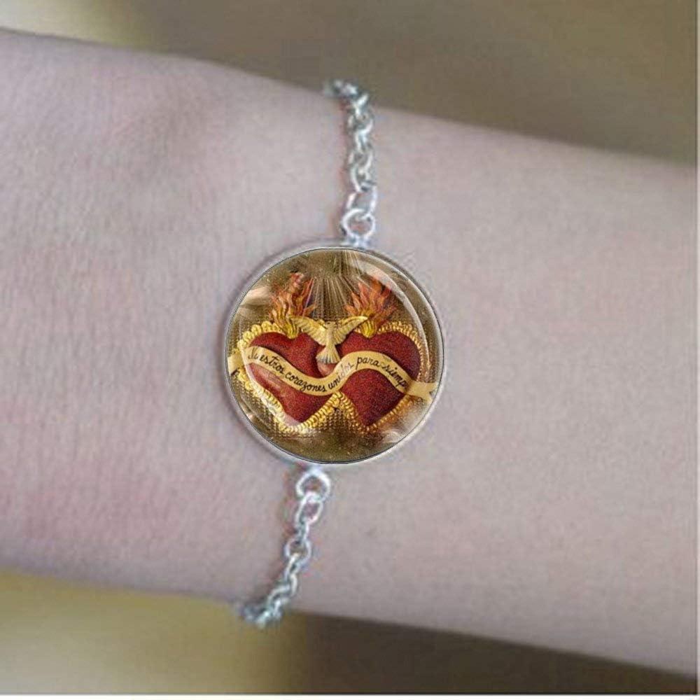 Sagrado Corazón de Jesús Pulseras – Medalla católica Collar ...