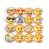 ZICOME Emoji Refrigerator Magnets Set of 16