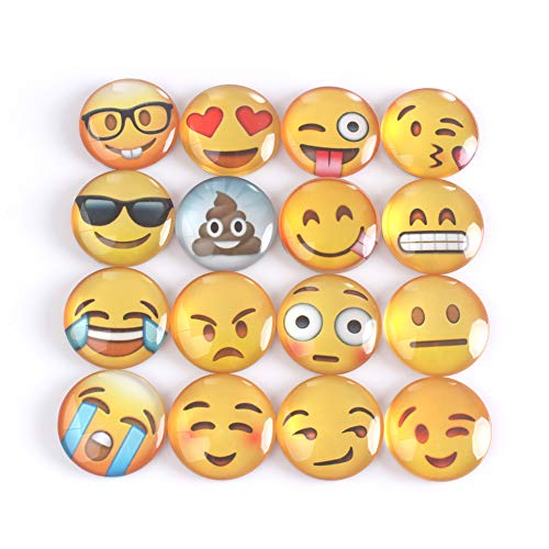 ZICOME Emoji Refrigerator Magnets Set of 16 by ZICOME