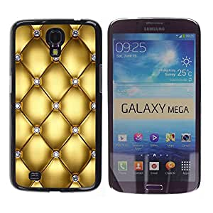iKiki Tech / Estuche rígido - Gold Design Diamond Bling Glitter - Samsung Galaxy Mega 6.3 I9200 SGH-i527