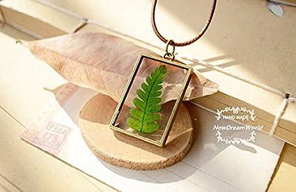 Amazon Com Newdreamworld Herbarium Necklace Pendant Real Christmas