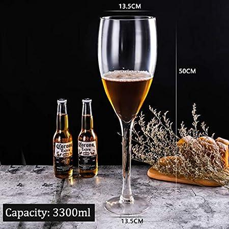 ASDFGH Botella Gigante del Partido de la Copa de Vino del Jugo del Vino Cerveza de la Barra del Vino Rojo del Whisky de Agua Potable de Gran tamaño Gigante Copas Cumpleaños Navidad Vidrio de Vino