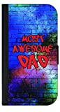 Most Awesome Dad - Passport Protector Case Cover / Card Holder for Travel