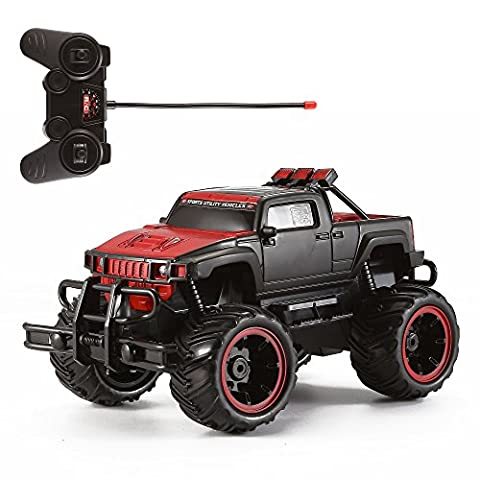 Motorino 1:16 Buggy Off Road Monster Truck (Matte Red Black) - 27MHz - Red Monster Truck