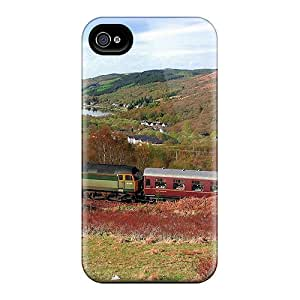 Ideal KPlank Case Cover For Iphone 4/4s(train Near An Austrian Lake), Protective Stylish Case