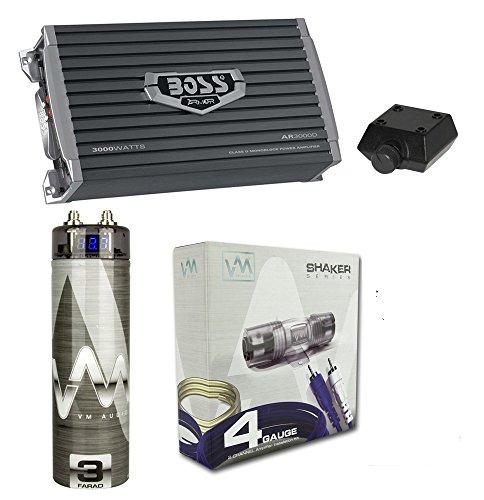 Boss AR3000D 3000W MONO D Car Amplifier + Remote + 3.0 Farad