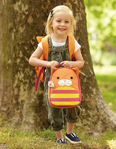 Skip Hop Baby Zoo Little Kid and Toddler Insulated and Water-Resistant Lunch Bag, Multi Chase Cat