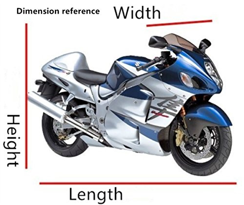 Lyfree Indoor/Outdoor Motorcycle Cover Reflective Waterproof UV Protection Heat - Moisture Guard Vent Sportbike (XXXL) by Lyfree (Image #5)