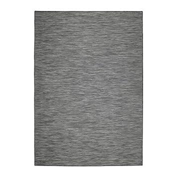Amazon De Unbekannt Ikea Hodde Teppich In Grau Flach Gewebt Fur