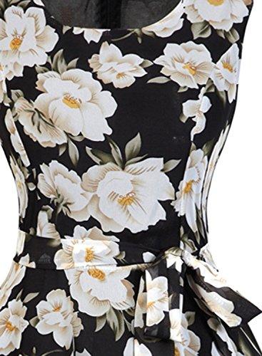 Futurino - Vestido - trapecio - para mujer Weiß Flower