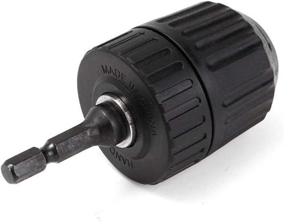 CHUNSHENN 0.8-10mm 3//8 Inch 24UNF Keyless Drill Chuck Converter 1//4 Inch Hex Shank Keyless Chuck Driver Drill Chuck Cutting Tools