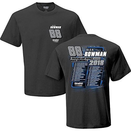 Checkered Flag Alex Bowman 2018 NASCAR Cup Series Schedule T-Shirt (Bowman Series)