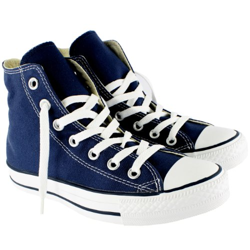Uomo Converse All Star Hi Top Chuck Taylor Chucks Sneaker Trainer - Navy - 7.5