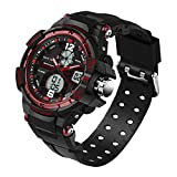Teens Multifunction Digital Analog Dual Time Waterproof Watches Ages 11-20