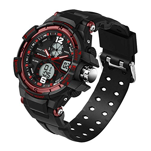 Teens Multifunction Digital Analog Dual Time Waterproof Watches Ages 11-20 by GXFCO