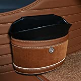 Ging Car garbage cans,Creative leather fashion car interior trash can storage box hanging compartment bag dustbin-G 22x10x18cm(9x4x7inch)
