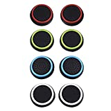 4 Pairs 8 Pcs Silicone Cap Joystick Thumb Grip Protect Cover for Ps3 Ps4 Xbox 360 Xbox One Wii U Game Controllers from KKONE