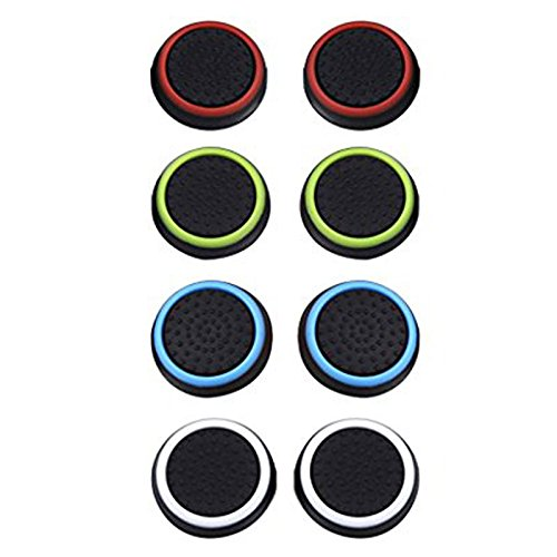 4 Pairs 8 Pcs Silicone Cap Joystick Thumb Grip Protect Cover for Ps3 Ps4 Xbox 360 Xbox One Wii U Game Controllers (Playstation Grips Joystick 4)