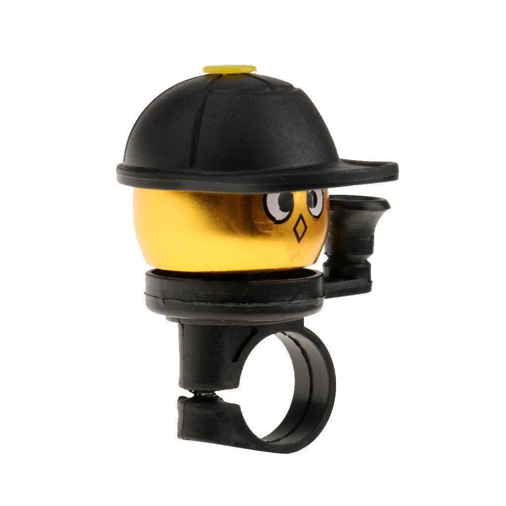 7.3cm Aleaci/ón de Aluminio Lunkener Amarillo Alarma para Manillar de Bicicleta de monta/ña para ni/ños
