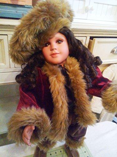 Wine Velvet Doll Coat