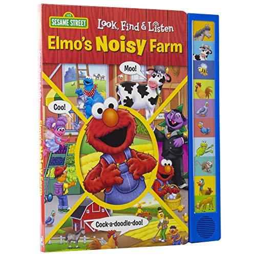 Sesame Street - Elmo's Noisy Farm Look, Find, and Listen - PI Kids