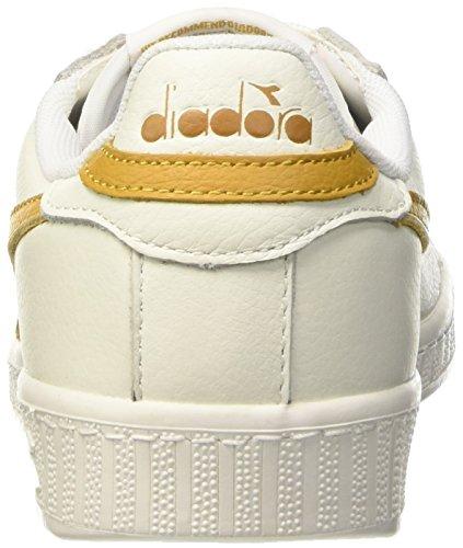 Diadora Unisex-volwassenen Spel L Lage Geboend Pompen 36 Eu Bianco (bianco / Beige Farro)