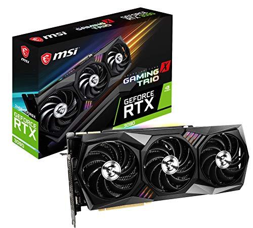 MSI RTX 3090 Gaming X Trio 24G Grafikkarte 24G GDDR6X 384 Bit 7680 x 4320 Pixel PCI Express Gen 4