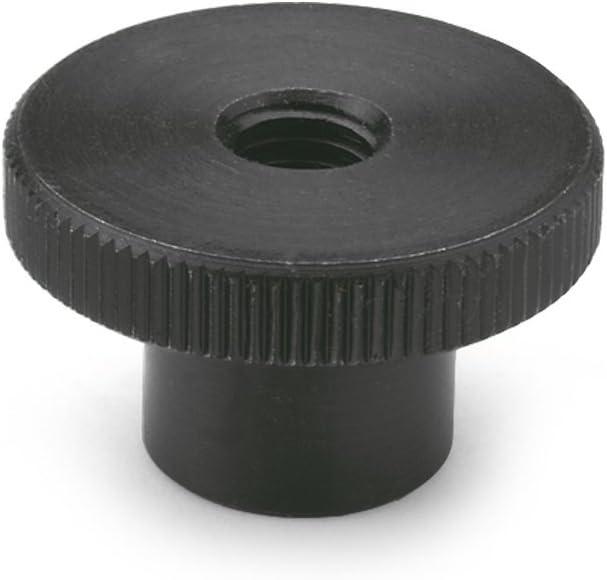 Negro Ganter Normelemente DIN 466-M3 Gewinde d1: M3 Tuercas moleteadas altas