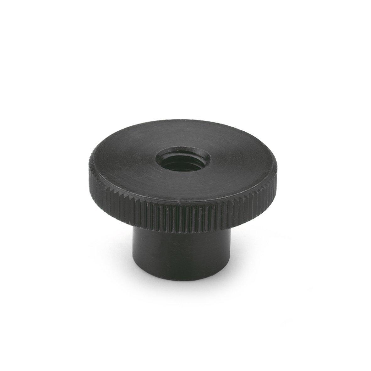 Ganter Normelemente | Hohe Rä ndelmutter - DIN 466-M5 | Stahl brü niert | 20 Stü ck