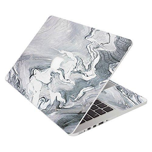 消費税無し SkylerShield 15 4-in-1 Protector 3M Vinyl Silver Skin - Decal Laptop Notebook Decals Sticker w/Black Keyboard Cover for Macbook Pro A1707 2016 15 with & w/o Touch Bar - Silver Gray Marble Stone [並行輸入品] B0788HVB9Y, あんどんや:96e33d41 --- a0267596.xsph.ru