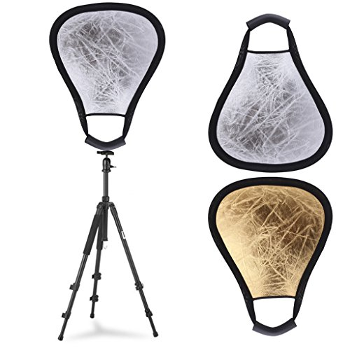 SCASTOE 30cm 2 in 1 Handheld Studio Photography Light Multi Collapsible Triangular Reflector Disc