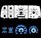 91-94 Mazda Navajo B-series Mazda Navajo/Mazda B2200 / B2300 / B3000 / B4000 Pick-Up with tach RPM Blue Indiglo Glow White Gauges