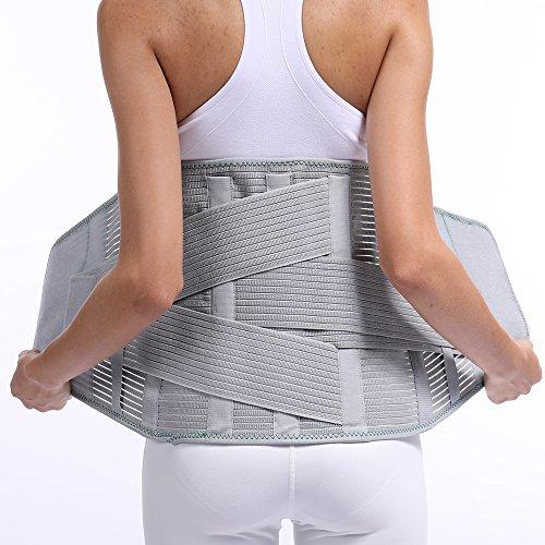 Lumbar Back Spinal Spine Waist Brace Support Belt Corset ...