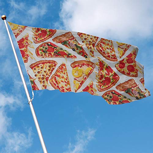 YUANSHAN Home Garden Flag Vegetables and Fruits Pizza Polyester Flag Indoor/Outdoor Wall Banners Decorative Flag 3' X 5'