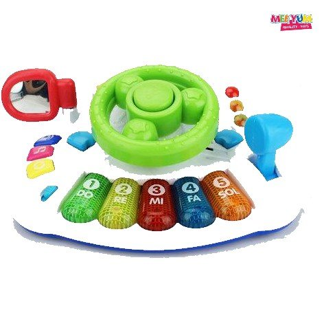 MeeYum Infant Baby Musical Organ Electronic Steering Wheel Car Functions Toy