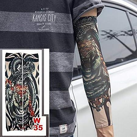 tzxdbh 2 unid Tatuaje Manga Estilo Estiramiento 100% Nylon Medias ...