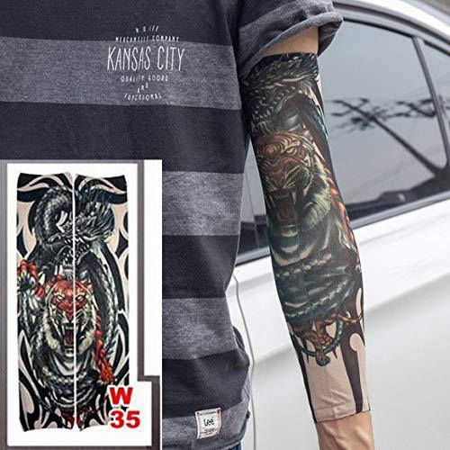 tzxdbh 3Pcs-Tattoo Manga Hombre Mujer Tatuaje Brazo Cálido ...