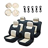89 s10 blazer seats - ECCPP Universal Car Seat Cover w/Headrest - 100% Breathable Mesh Cloth Stretchy Durable for Most Cars Trucks Vans(Beige/Black)