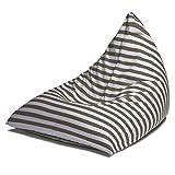 Jaxx Twist Outdoor Bean Bag Chair, Taupe Stripes