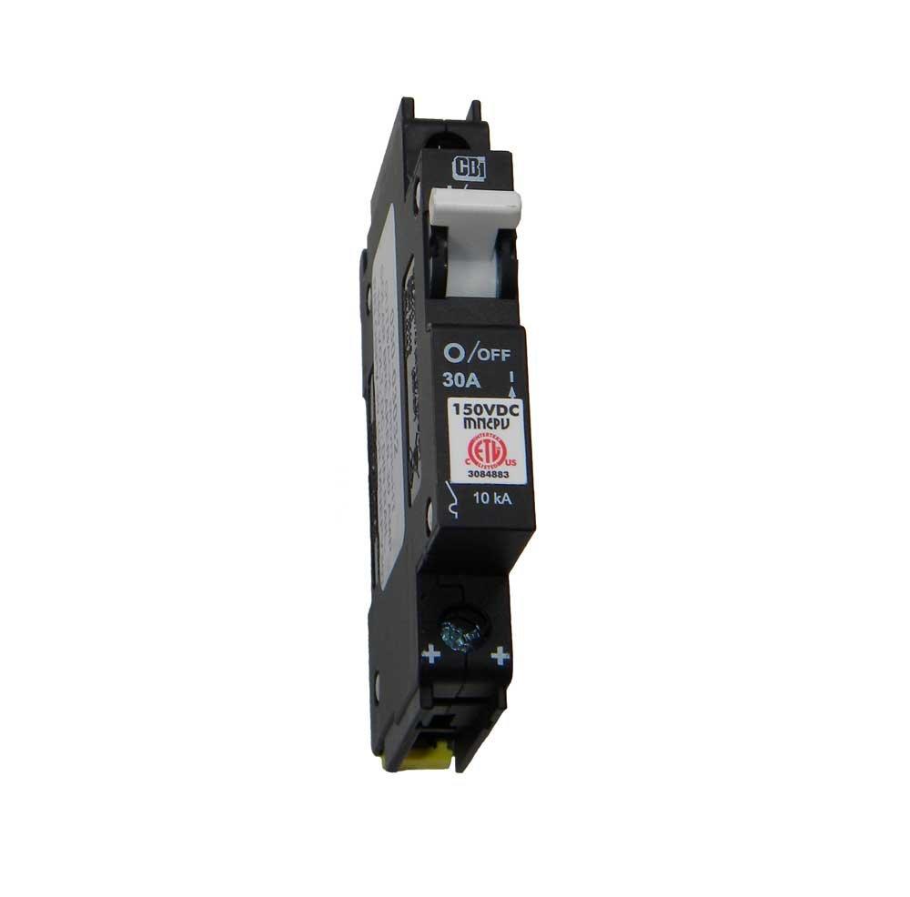 Din Rail Mount Combiner PV Breaker - 30 Amp, 150 VDC, | MNEPV30