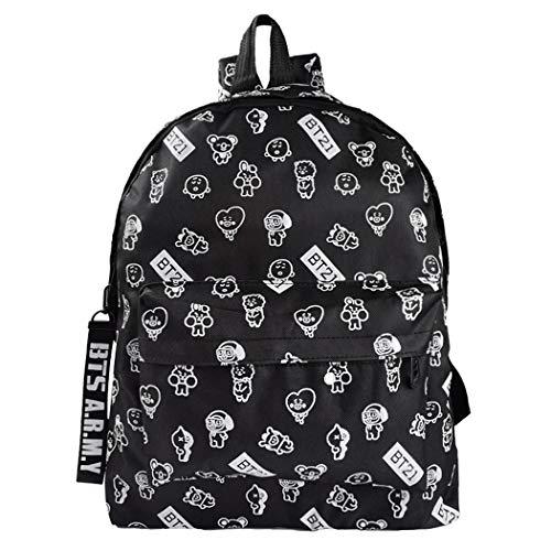 Unisex BTS Backpacks Bangtan Boys College Bag Kpop Schoolbag Travel Rucksack Nice Gift for BTS Fans or A.R.M.Y. CHIMMY Cooky KOYA MANG RJ SHOOKY TATA