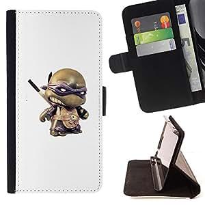 3D TOY HERO TURTLE FIGURINE CARTOON/ Personalizada del estilo del dise???¡Ào de la PU Caso de encargo del cuero del tir????n del soporte d - Cao - For Samsung Galaxy S6