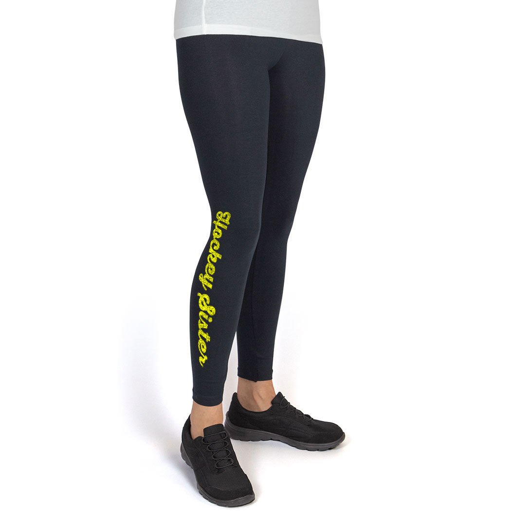 Youth To Adult Sizes Hockey Leggings by ChalkTalk SPORTS Multiple Colors Sister Leggings