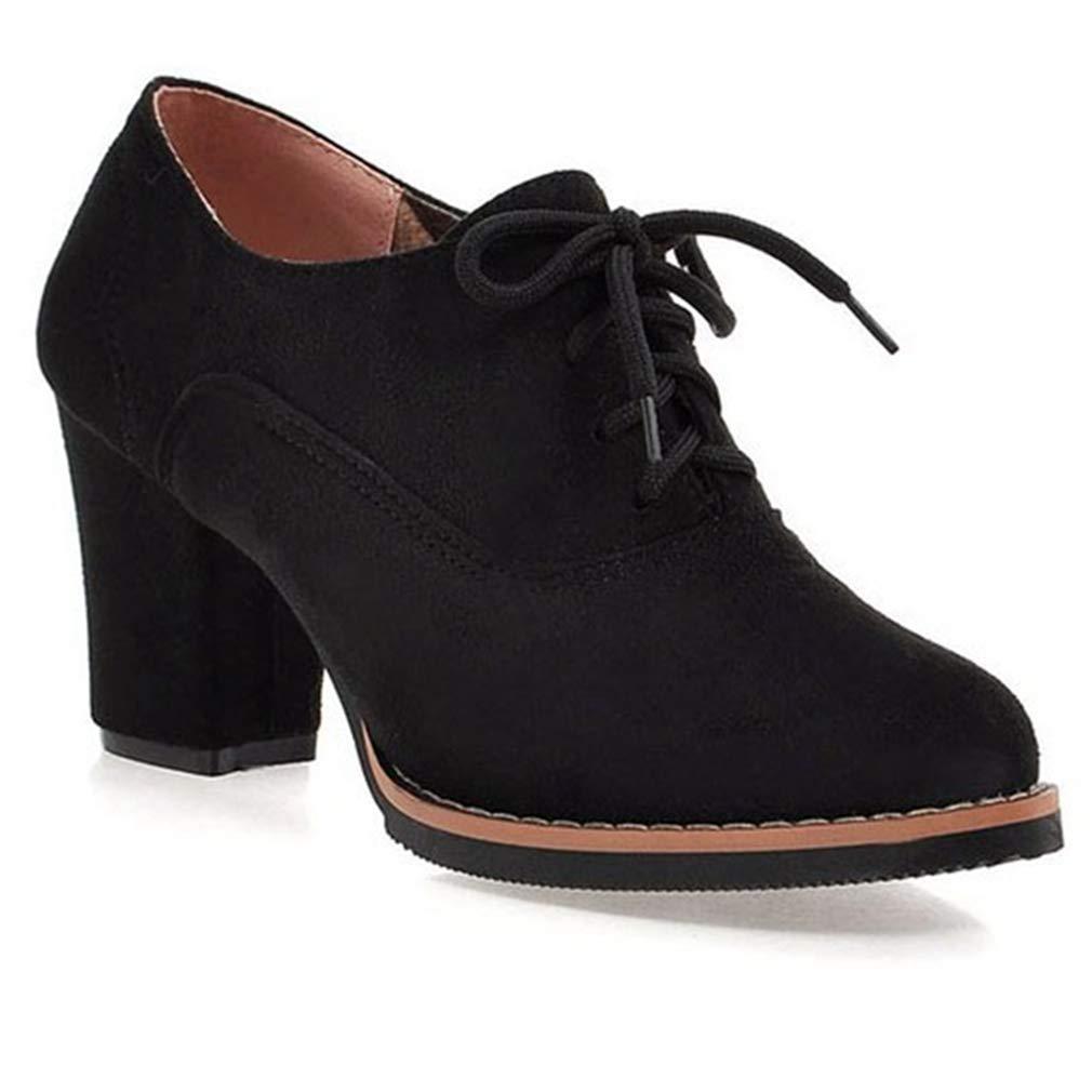 e4dcf84d469 Amazon.com | Women's Casual Platform Lace Up Half Ankle Boots Suede ...