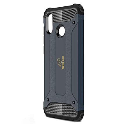 competitive price 0d893 5ad1d Toptup Case Huawei Rugged Armor Protection Shockproof Phone Back Bumper  Cover Cases for Honor Play 2018 (Navy Blue)