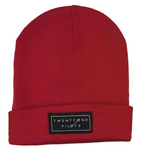 Beanie Hat Band Logo Tyler Josh Official Red (Logo Beanie Hat)