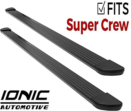 Ionic Gladiator Black Running Boards (Fits) 2015-2018 Ford F150 SuperCrew