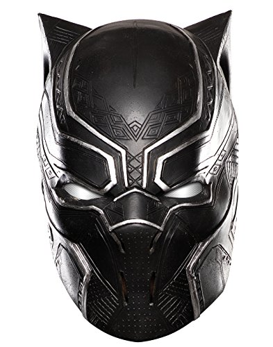 Rubie's Men's Captain America: Civil War Black Panther Full Vinyl Mask, As Shown, One Size